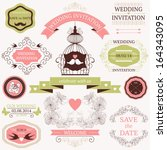 vector collection of decorative ... | Shutterstock .eps vector #164343095