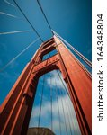 golden gate bridge pillar in... | Shutterstock . vector #164348804