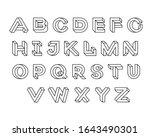 impossible shape font design ... | Shutterstock .eps vector #1643490301