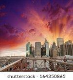 modern city skyline with... | Shutterstock . vector #164350865