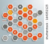 Infographic With Honeycomb...