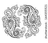 paisley. ethnic ornament....   Shutterstock .eps vector #164355521