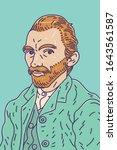vincent van gogh  1853   1890 ... | Shutterstock .eps vector #1643561587