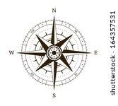 navigation compass wind rose... | Shutterstock .eps vector #164357531