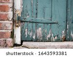 Close Up Of A Metal Hinge On An ...