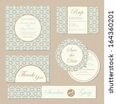set of vintage  wedding... | Shutterstock .eps vector #164360201