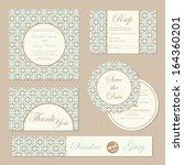 set of vintage  wedding... | Shutterstock .eps vector #164360201