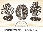 vector set of vintage... | Shutterstock .eps vector #164360267