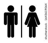 male female men women toilet... | Shutterstock .eps vector #1643619064