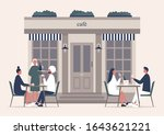summer cafe terrace  people...   Shutterstock .eps vector #1643621221