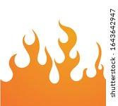 fire flame background vector... | Shutterstock .eps vector #1643642947
