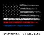 usa firefighter police grunge... | Shutterstock .eps vector #1643691151