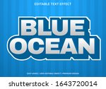 blue ocean text effect template ... | Shutterstock .eps vector #1643720014