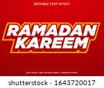 ramadan kareem text effect... | Shutterstock .eps vector #1643720017