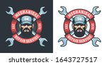 auto mechanic with wrench and...   Shutterstock .eps vector #1643727517