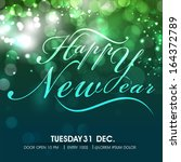 stylish text happy new year on...   Shutterstock .eps vector #164372789