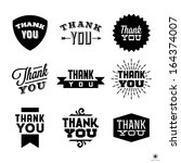 vintage label with thank you | Shutterstock .eps vector #164374007