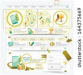 website design template... | Shutterstock .eps vector #164375669