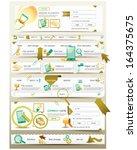 website design menu navigation... | Shutterstock .eps vector #164375675