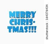 merry christmas | Shutterstock .eps vector #164376434