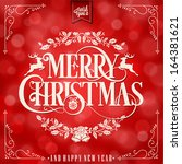i wish you a merry christmas... | Shutterstock .eps vector #164381621