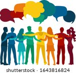 dialogue and friendship... | Shutterstock .eps vector #1643816824