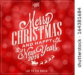 i wish you a merry christmas... | Shutterstock .eps vector #164381684