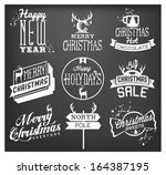 christmas and new year design... | Shutterstock .eps vector #164387195