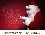 side view of santa claus... | Shutterstock . vector #164388029