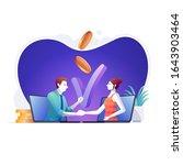 online marketing or business...   Shutterstock .eps vector #1643903464