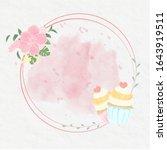 sweet cupcakes watercolour... | Shutterstock .eps vector #1643919511