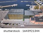 Aerial view of Sibelius Hall in Lahti, Finland in summer day.