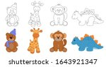 stuffed animals toys. coloring. ...   Shutterstock .eps vector #1643921347