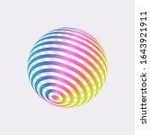 color logo design  abstract...   Shutterstock .eps vector #1643921911