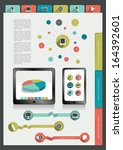 infographics folder collection. ... | Shutterstock .eps vector #164392601