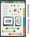 infographics folder collection. ... | Shutterstock .eps vector #164392601