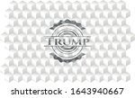 trump retro style grey emblem...