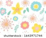 seamless pattern of  flowers... | Shutterstock .eps vector #1643971744