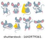 Cartoon Mouse. Little Cute...