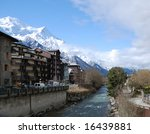 View Of Spring Chamonix With...