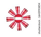 austria detailed silk rosette... | Shutterstock .eps vector #1643993854