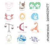 zodiac drawing vector design... | Shutterstock .eps vector #1644025477
