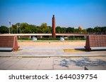 Inside view of National War Memorial in Delhi India, War Memorial full view during evening