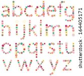 geometric style font  colorful... | Shutterstock .eps vector #164405171