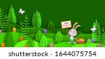 happy easter 3d paper cut... | Shutterstock .eps vector #1644075754
