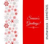 christmas greetings card.... | Shutterstock . vector #164407631