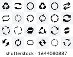 recycle icon. recycle arrow... | Shutterstock .eps vector #1644080887