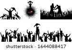 winner's trophy champion belt...   Shutterstock .eps vector #1644088417