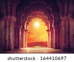 old ruined arch in ancient... | Shutterstock . vector #164410697