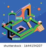 this colorful illustration...   Shutterstock .eps vector #1644154207